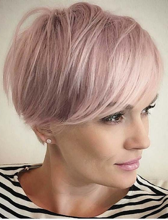 Pin On Hairs in Most Current Short Side Swept Pixie Haircuts With Caramel Highlights