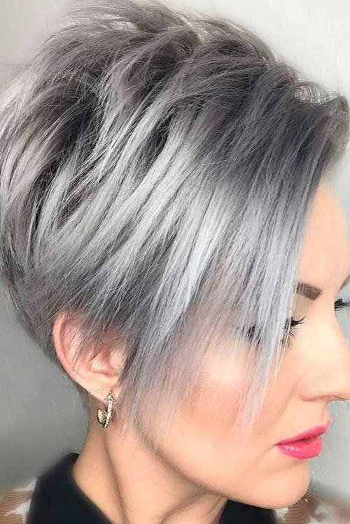 Pin On Hairstyles for Newest Metallic Short And Choppy Pixie Haircuts