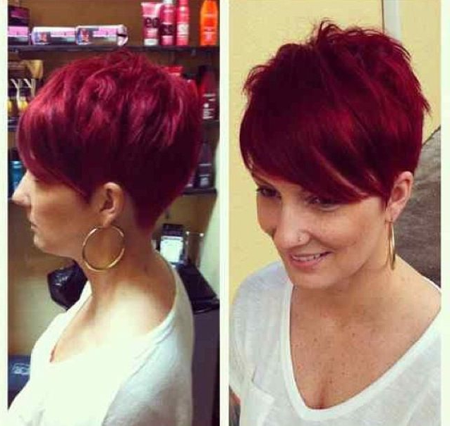 Pin On Hairstyles I Like in Current Pageboy Maroon Red Pixie Haircuts