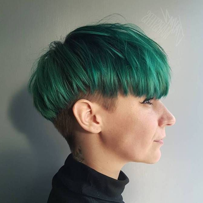 Pin On Maeve Styles within Most Up-to-Date Aqua Green Undercut Hairstyles