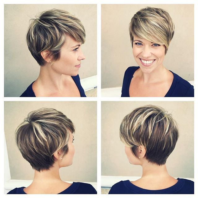 Featured Photo of Dark Pixie Haircuts With Blonde Highlights