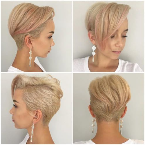 Pin On Pixie Cuts within Most Recent Classic Disconnected Bob Haircuts