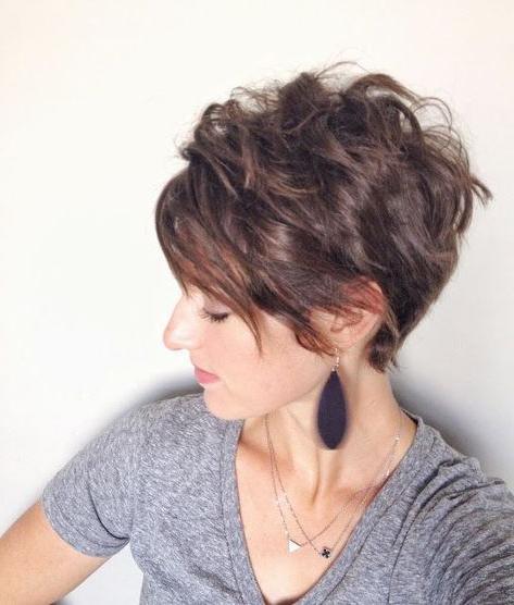 Pin On Rhonda inside Newest Shattered Choppy Bangs Pixie Haircuts