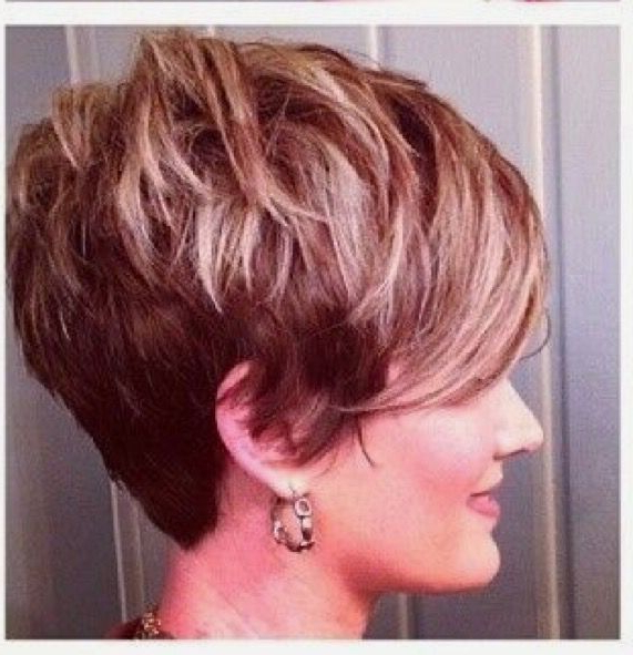 Pin On Sassy Cuts~ intended for Recent Short Side Swept Pixie Haircuts With Caramel Highlights