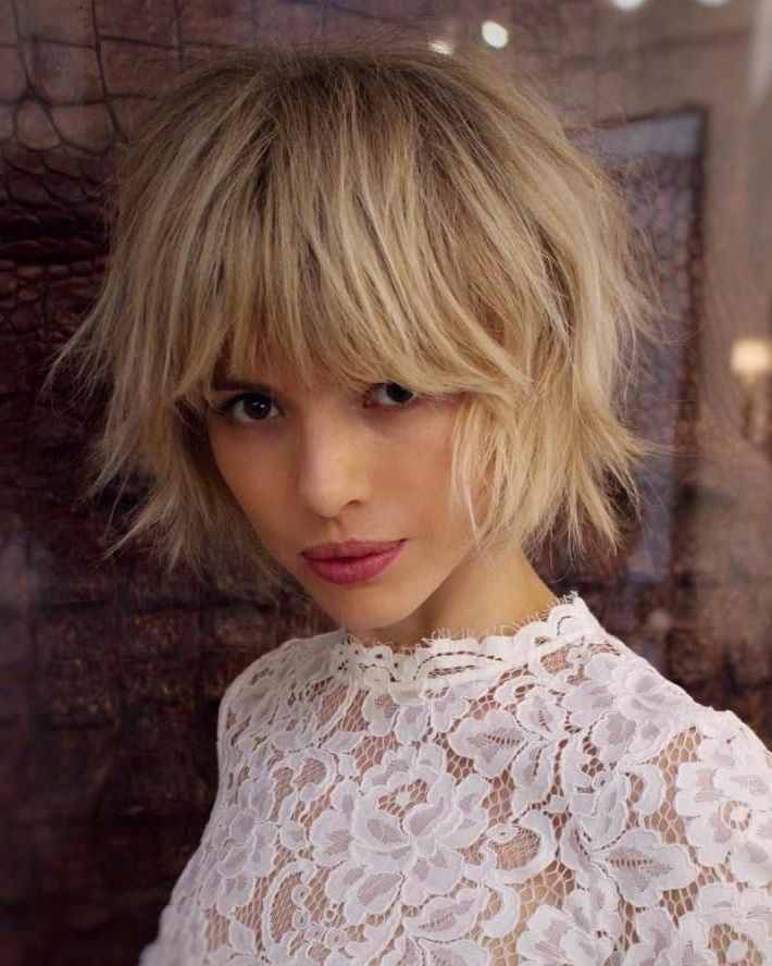 Pin On Short Hair for 2018 Shattered Choppy Bangs Pixie Haircuts