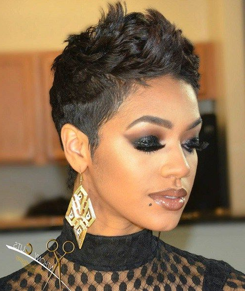 Pin On Short Hair pertaining to Recent Perfect Pixie Haircuts For Black Women