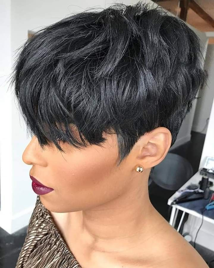 Pin On Short Hair Styles Pixie In Most Current Perfect Pixie Haircuts For Black Women (View 6 of 25)