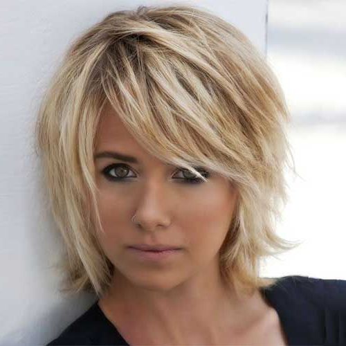 Pin On Short Hair throughout Shaggy Bob Hairstyles With Choppy Layers