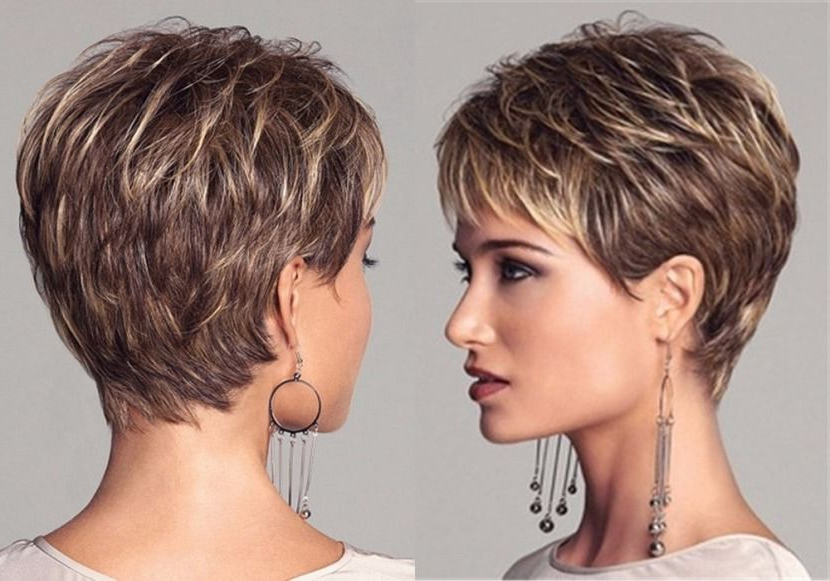 Pin On Short Haircuts throughout 2018 Short Layered Pixie Haircuts