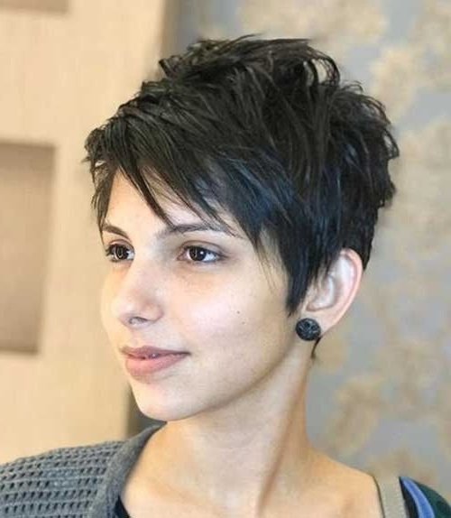 Pin On Short Hairstyles with regard to Newest Short Shaggy Pixie Hairstyles