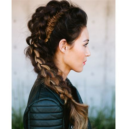Pin On Updo's & Styles within Most Popular Three Strand Side Braid Hairstyles
