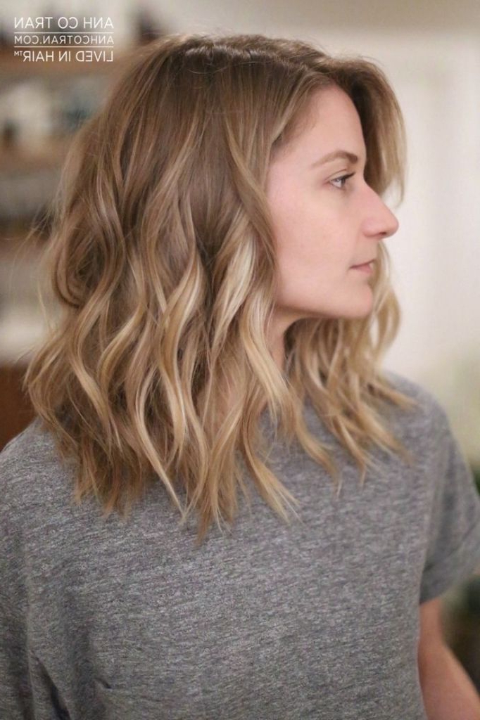 Pin On Vanity with regard to Mid-Length Beach Waves Hairstyles