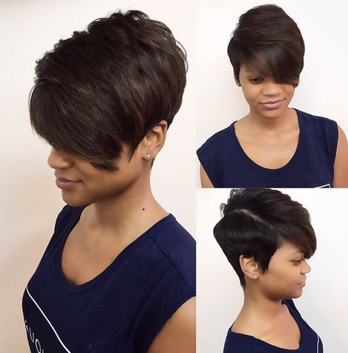 Pin On Wigs For Black Women pertaining to Short Black Bob Hairstyles With Bangs