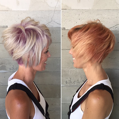Pink Shadow Root Cut And Color – Behindthechair Regarding Best And Newest Long Undercut Hairstyles With Shadow Root (View 7 of 25)