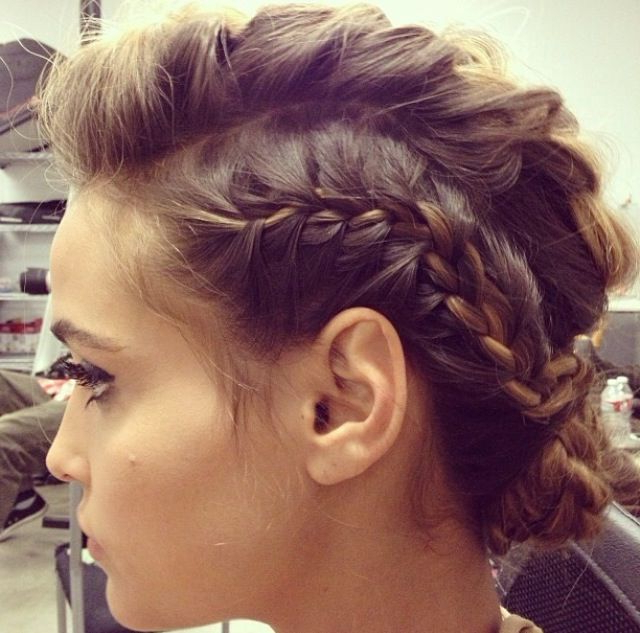 Pinkatelyn Wilkerson Stone On H A I R S T Y L E S | Hair with regard to Most Recently Faux Hawk Braid Hairstyles