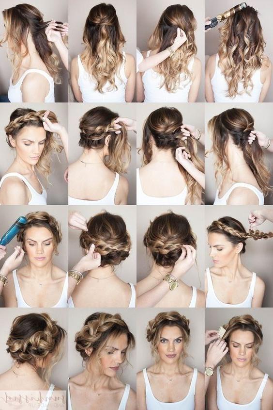 Pinkübra On Hair Models | Braided Hairstyles, Hair Inside Most Popular Messy Crown Braid Hairstyles (View 8 of 25)