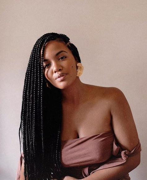 Pinnathalie Gaelle Abah On Afro Queen | Braids, Braided Within Most Current Hoop Embellished Braids Hairstyles (View 7 of 25)