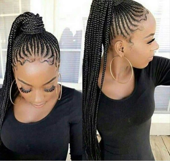 Pin`simply Nubi ` On Headtop (Protective Styles With Regard To Most Up To Date Ponytail Braid Hairstyles (View 11 of 25)