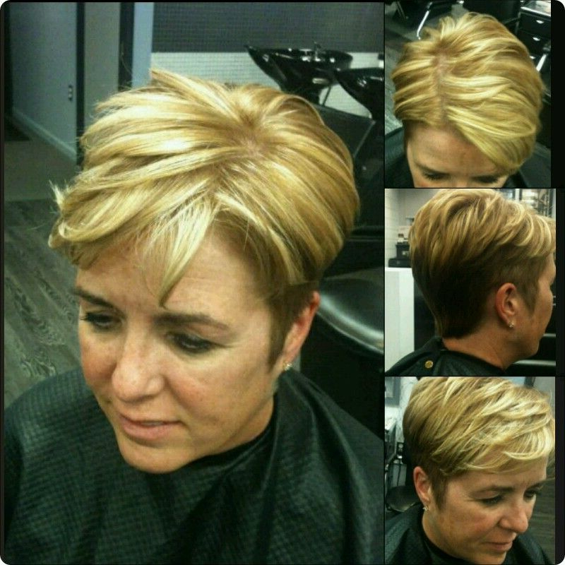 Pixie Haircut With Highlight And Lowlights | Pixie Haircut With Regard To Latest Dark Pixie Haircuts With Blonde Highlights (View 20 of 25)