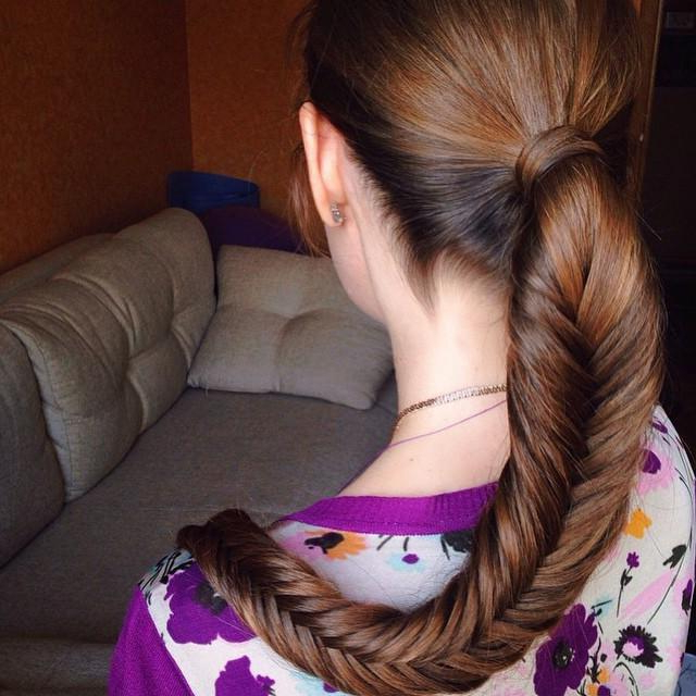 Ponytail Fishtail Braid within Newest Ponytail Fishtail Braid Hairstyles