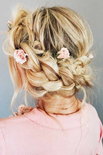 Popular Braided Hairstyles Creative And New Designs For Long pertaining to Most Recently Updo Halo Braid Hairstyles