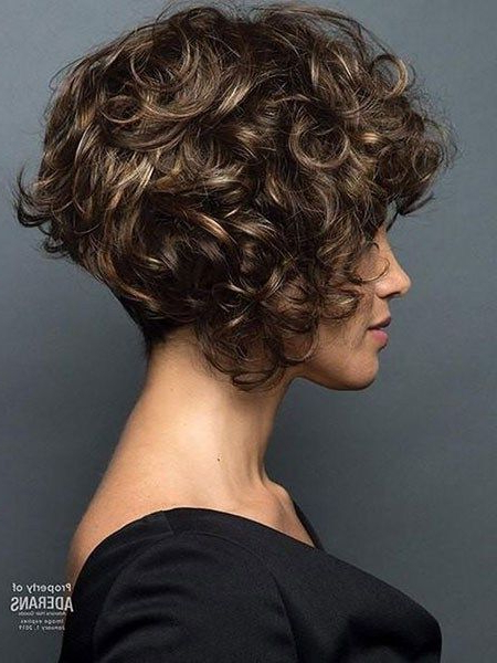 Popular Short Curly Hairstyles 2018 – 2019 | Short Bob with Cute Short Curly Bob Hairstyles