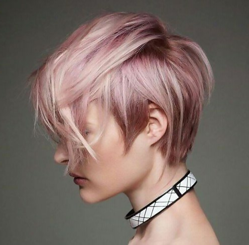 Pretty In Pink: 30 Flirty Looks For Your Rose Gold Hair Color inside Most Current Edgy Textured Pixie Haircuts With Rose Gold Color