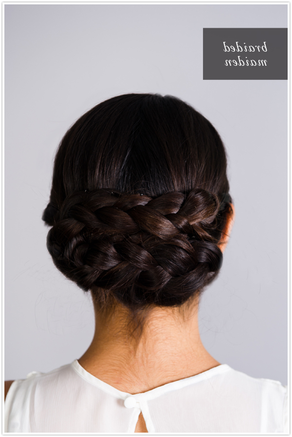 Pretty Simple :: Braided Chignon - Camille Styles intended for Most Up-to-Date Plaited Chignon Braid Hairstyles