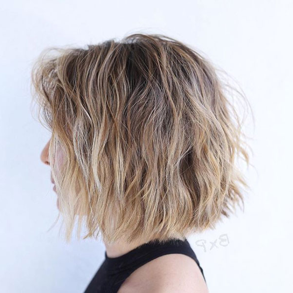 Proof That Beach Waves Were Made For Shoulder-Length Hair intended for Beach Wave Bob Hairstyles With Highlights