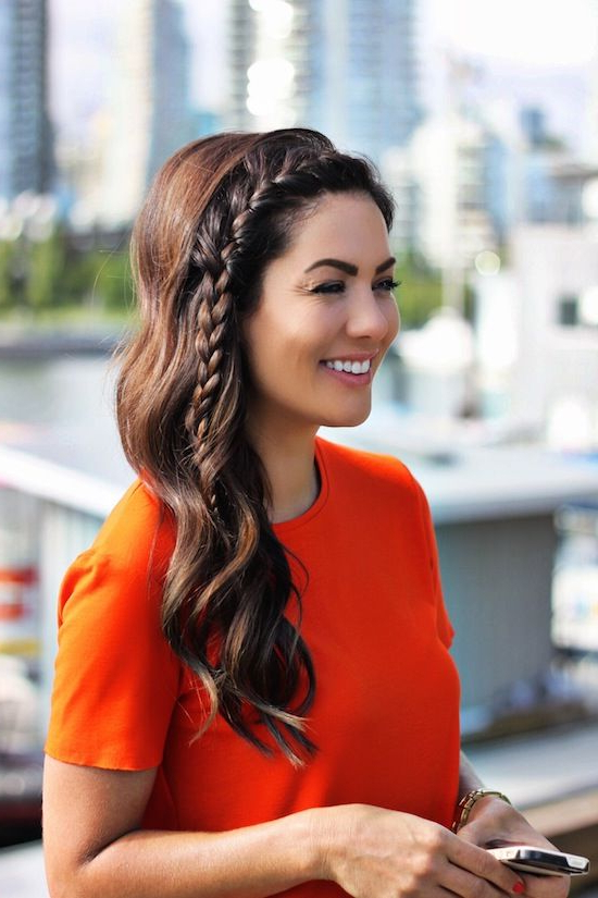 Quick And Easy Side Braid Hairstyles From Pinterest Pertaining To Most Popular Three Strand Long Side Braid Hairstyles (View 6 of 25)