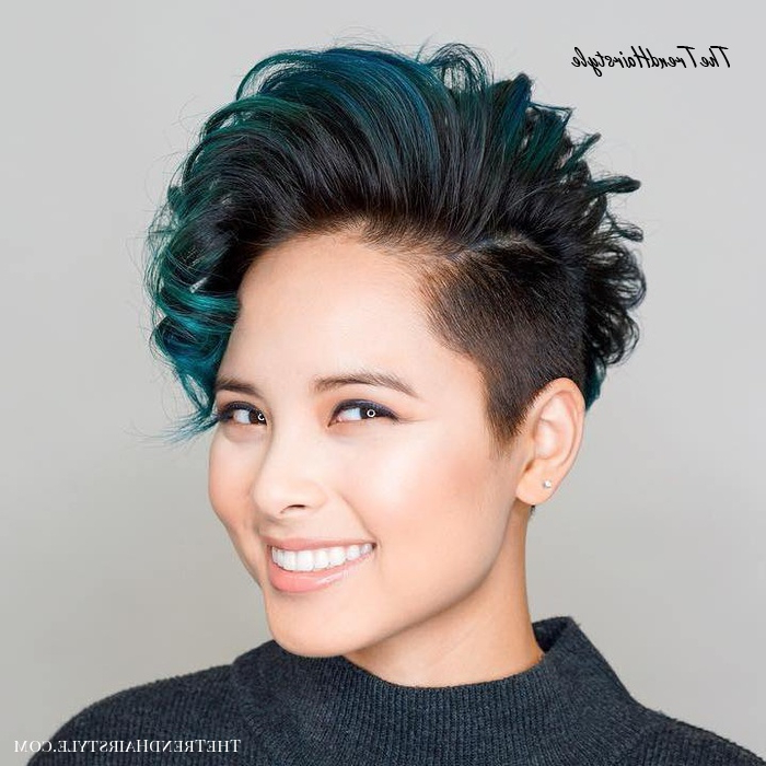Ravishing Smoky Purple Ombre – 30 Modern Asian Girls Pertaining To Most Popular Piecey Pixie Haircuts For Asian Women (View 17 of 25)