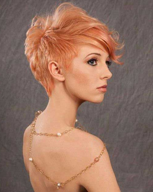 Really Trendy Asymmetrical Pixie Cut For Most Popular Wavy Asymmetrical Pixie Haircuts With Pastel Red (View 13 of 26)