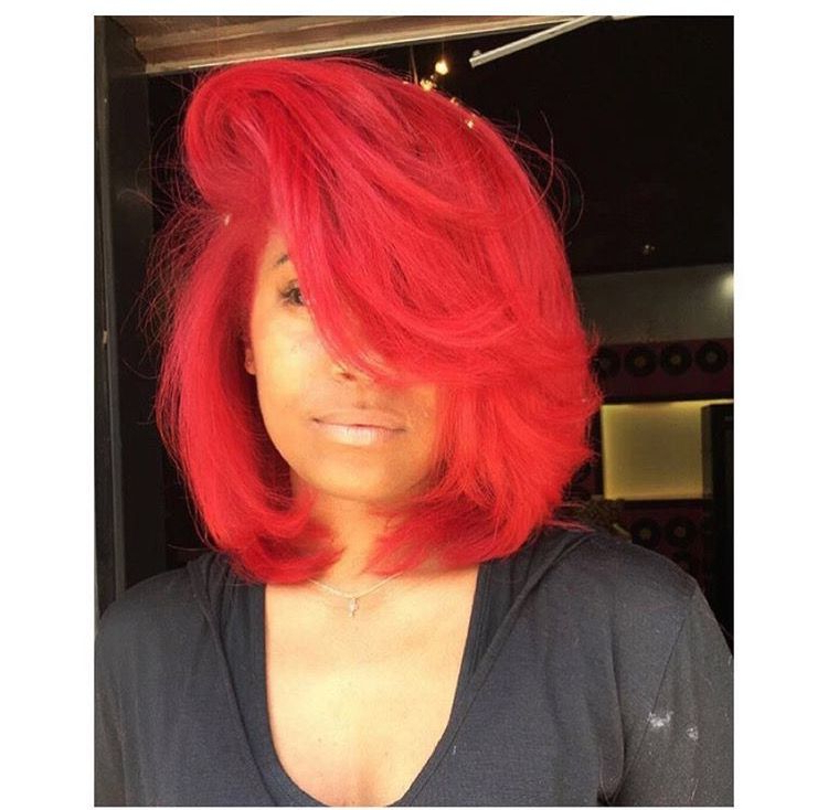 Red Bob | Red Bob Hair, Hair Highlights, Red Hair Color Pertaining To Bright Red Bob Hairstyles (View 10 of 25)