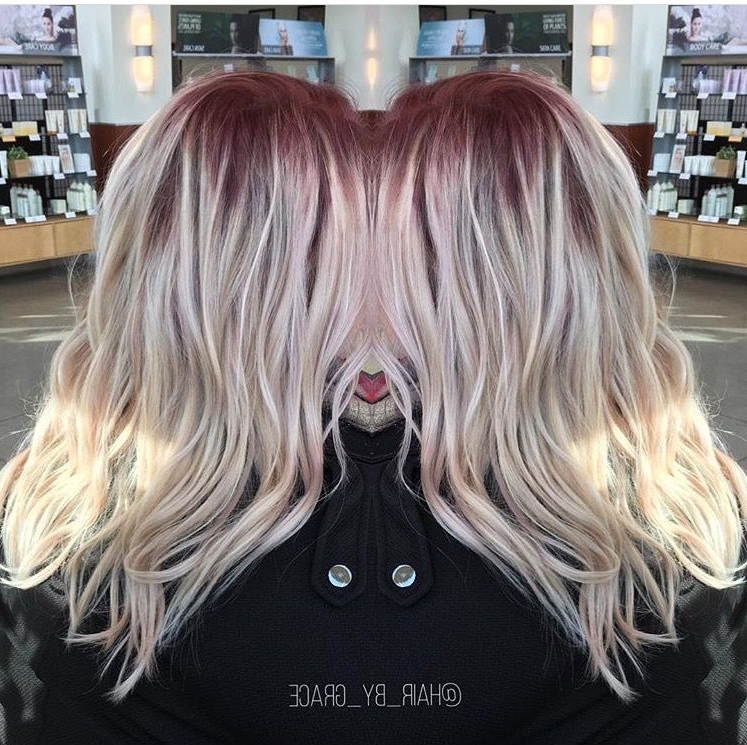Red Shadow Root With Icy Blonde #shadowroot #blonde #red For 2018 Long Undercut Hairstyles With Shadow Root (View 8 of 25)