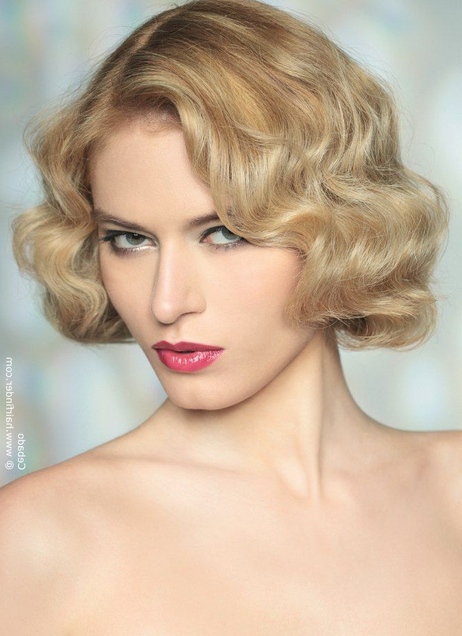 Retro Curly Bob Perfection (View 24 of 25)