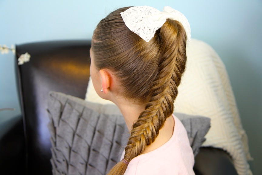 Reverse Fishtail Braid | Cute Braid Hairstyles | Cute Girls Intended For Newest Ponytail Fishtail Braid Hairstyles (View 14 of 25)