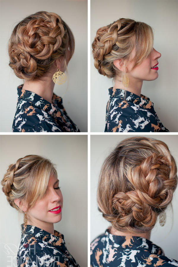 Romantic Asymmetrical Double Dutch Braids Updo – Hairstyles Pertaining To Current Asymmetrical French Braid Hairstyles (View 13 of 25)
