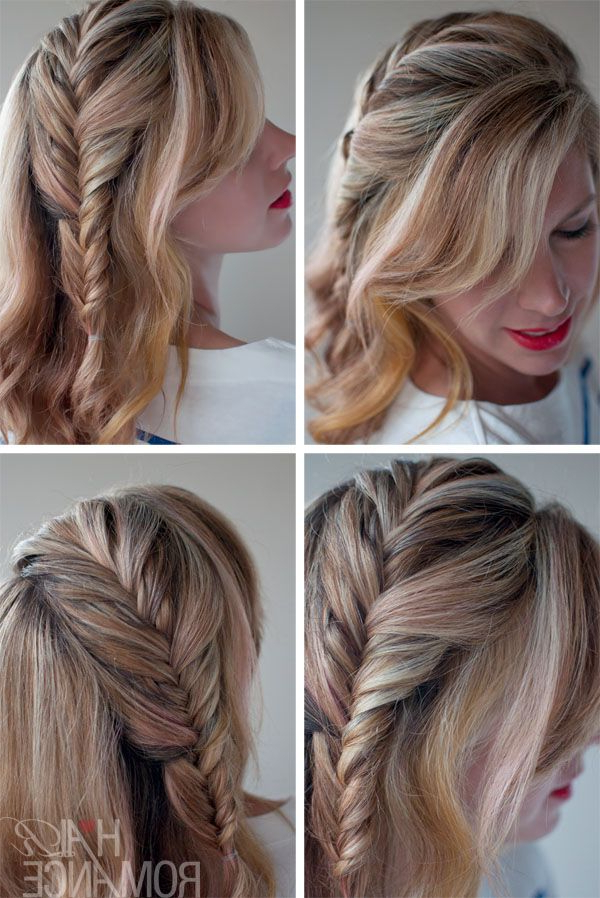 Romantic French Fishtail Side Braid | Hair Romance, Hair With Most Up To Date Fishtail Side Braid Hairstyles (View 6 of 25)
