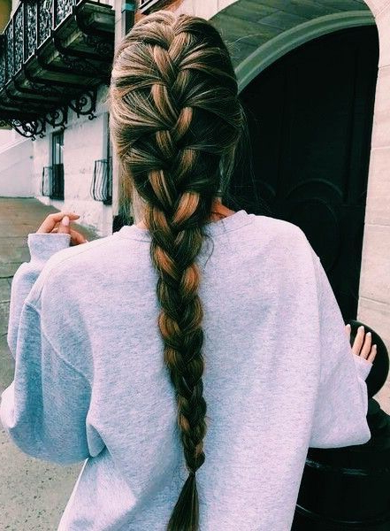 Sarchappy ? In 2019 | Braided Hairstyles, Long Hair Styles Inside Most Up To Date Asymmetrical French Braid Hairstyles (View 11 of 25)