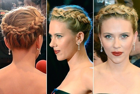 Scarlett Johansson's Braided Halo – Do It Yourself – How To In Most Popular Braided Halo Hairstyles (View 22 of 25)