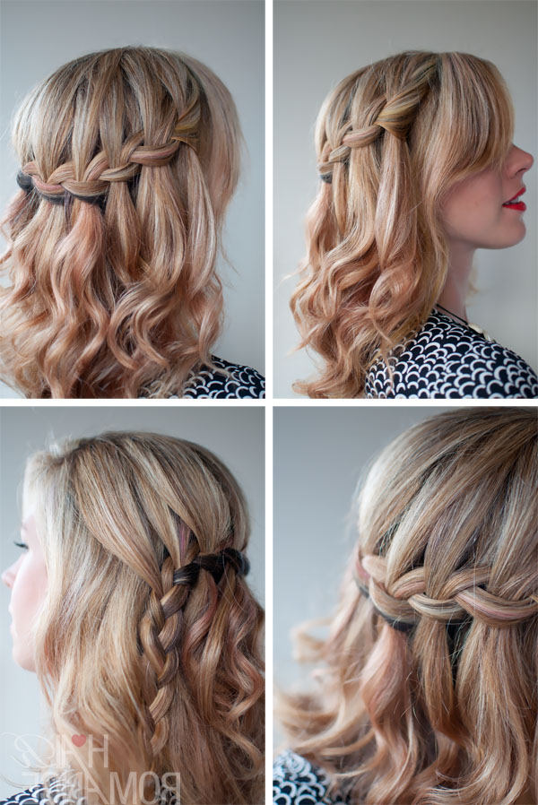School Hairstyle Ideas: The Waterfall Braid – Beautiful Half For Newest Half Braided Hairstyles (View 21 of 25)