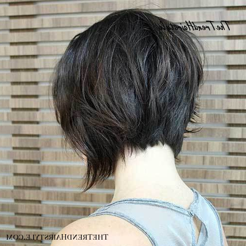 Shaggy Inverted Bob – 50 Trendy Inverted Bob Haircuts – The Pertaining To Super Short Inverted Bob Hairstyles (View 16 of 25)
