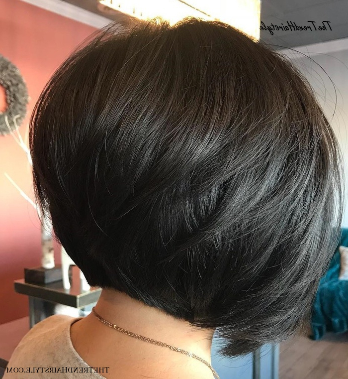 Shaggy Inverted Bob – 50 Trendy Inverted Bob Haircuts – The With Regard To Rounded Sleek Bob Hairstyles With Minimal Layers (View 12 of 25)