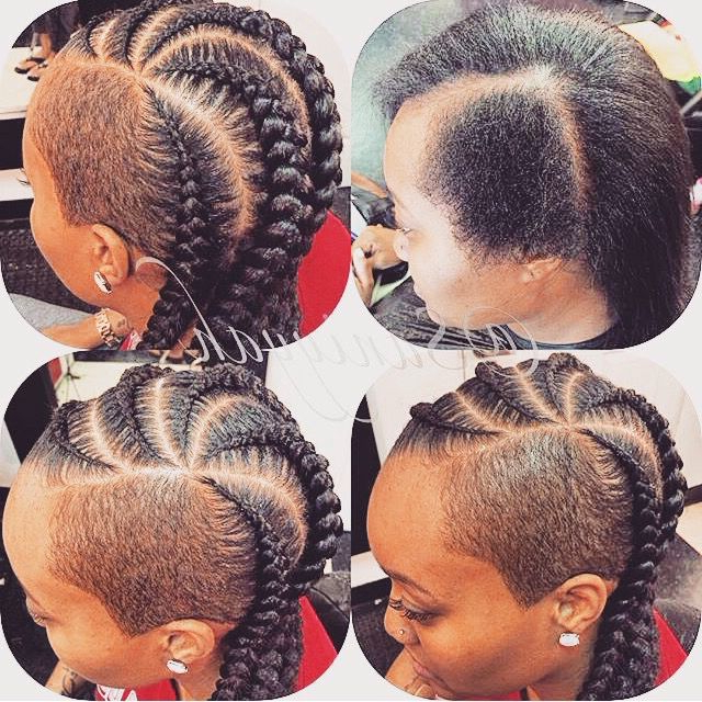 Shaved Sides And Cornrows | Braids With Shaved Sides, Shaved With Regard To Most Recently Side Shaved Cornrows Braids Hairstyles (View 2 of 25)