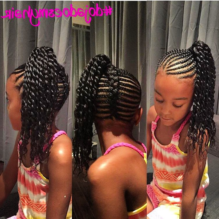 She Used Jbco On A Twa Twist Out, The Style She Got Out Of Throughout Most Current Cornrow Fishtail Side Braid Hairstyles (View 5 of 25)