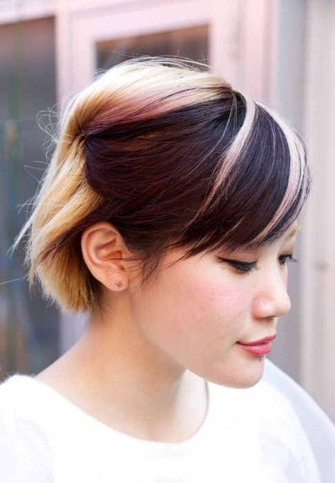 Short Asian Hair With Highlights | Short Stacked Hair For Most Up To Date Piecey Pixie Haircuts For Asian Women (View 13 of 25)