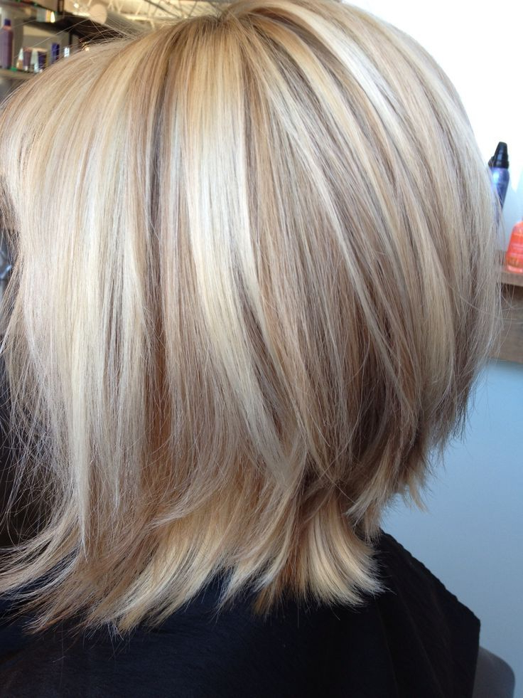 Short Blonde Highlighted Hairdos For Stylish Ladies | Medium Pertaining To One Length Short Blonde Bob Hairstyles (View 22 of 25)
