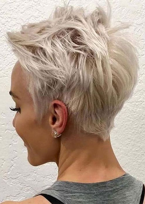Short Blonde Pixie Haircut | Messy Pixie Haircut, Very Short Throughout Newest Blonde Pixie Haircuts (View 3 of 25)