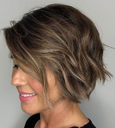Short Bob Haircuts 2019   Short Bob Haircuts, Short Hair Pertaining To Texturized Tousled Bob Hairstyles (View 10 of 25)