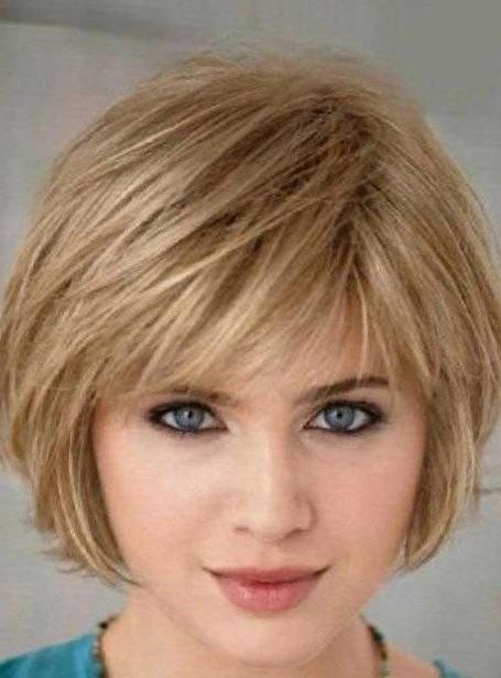 Short Bob Hairstyle With Side Bangs Short Bob Hairstyle With With Regard To Rounded Short Bob Hairstyles (View 9 of 25)